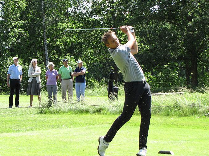 Se god golf og støt spillerne